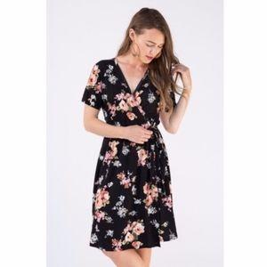 Agnes & Dora | Black Floral Nightengale Dress L